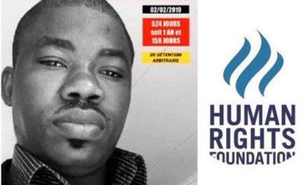 Human rigths  watch foundation demande la libération l'activiste Hervé  Mombo Kinga