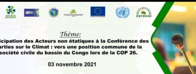 Communiqué de presse:Aux leaders de la société civile du bassin du congo